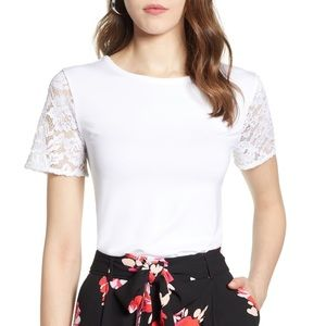 Halogen Lace Sleeve Top